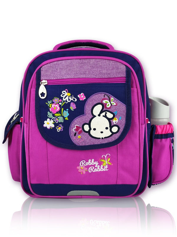 Blooms N Blued - 14in Backpack (Purple)  - Robby Rabbit Girls
