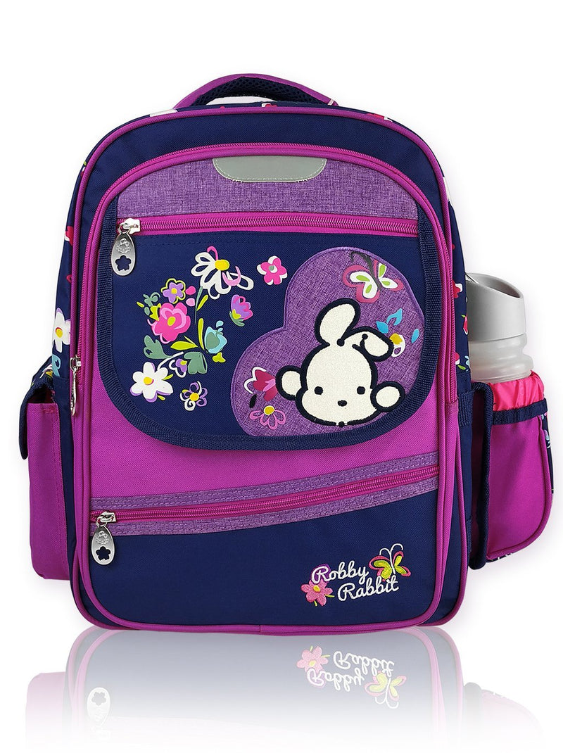 Blooms N Blued - 16in Backpack (Purple)  - Robby Rabbit Girls
