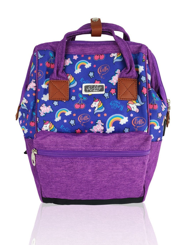 Love Magic Hinge Clasp - 14in Backpack (Purple)  - Robby Rabbit Girls