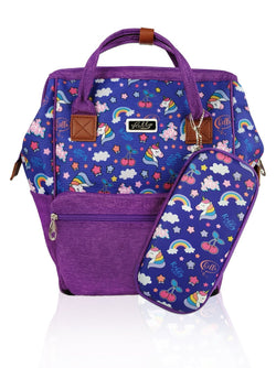 Love Magic Hinge Clasp - 16in Backpack (Purple)  - Robby Rabbit Girls