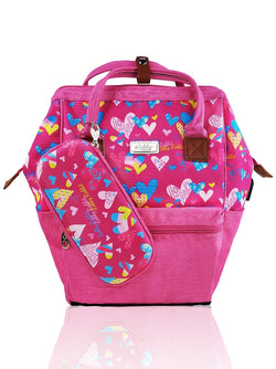 Love Magic Hinge Clasp - 16in Backpack (Pink)  - Robby Rabbit Girls