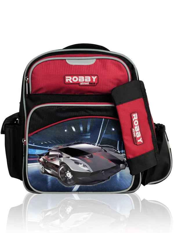 Jaunty Drift - 14in Backpack (Black)  - Robby Rabbit Boys
