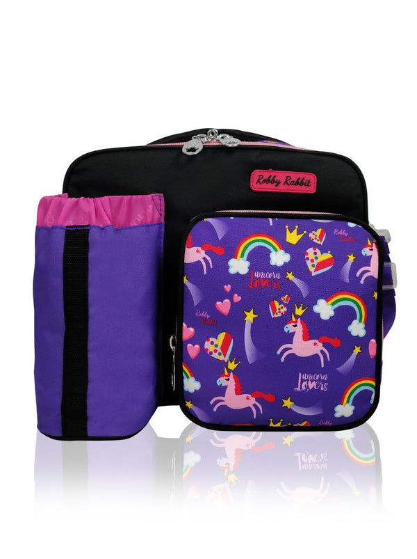 Purple Unicorns - Thermal Lunch Bag  - Robby Rabbit Girls