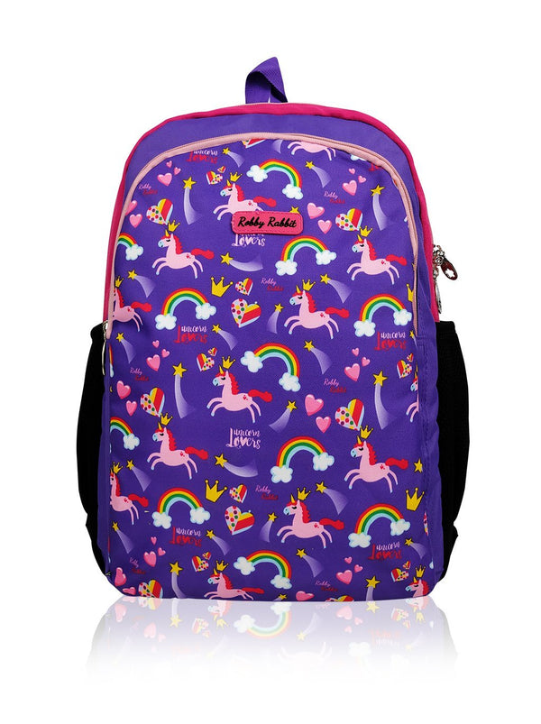 Flowers and Butterflies (Reversible) - 17in Backpack (Purple and Pink)  - Robby Rabbit Girls