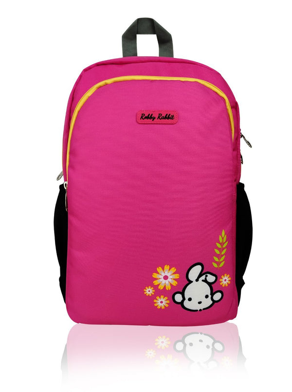 Hearts and Unicorns (Reversible) - 17in Backpack (Pink)  - Robby Rabbit Girls
