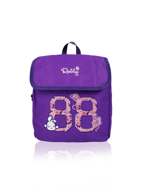 Flower Power - 10in Backpack (Purple)  - Robby Rabbit Girls