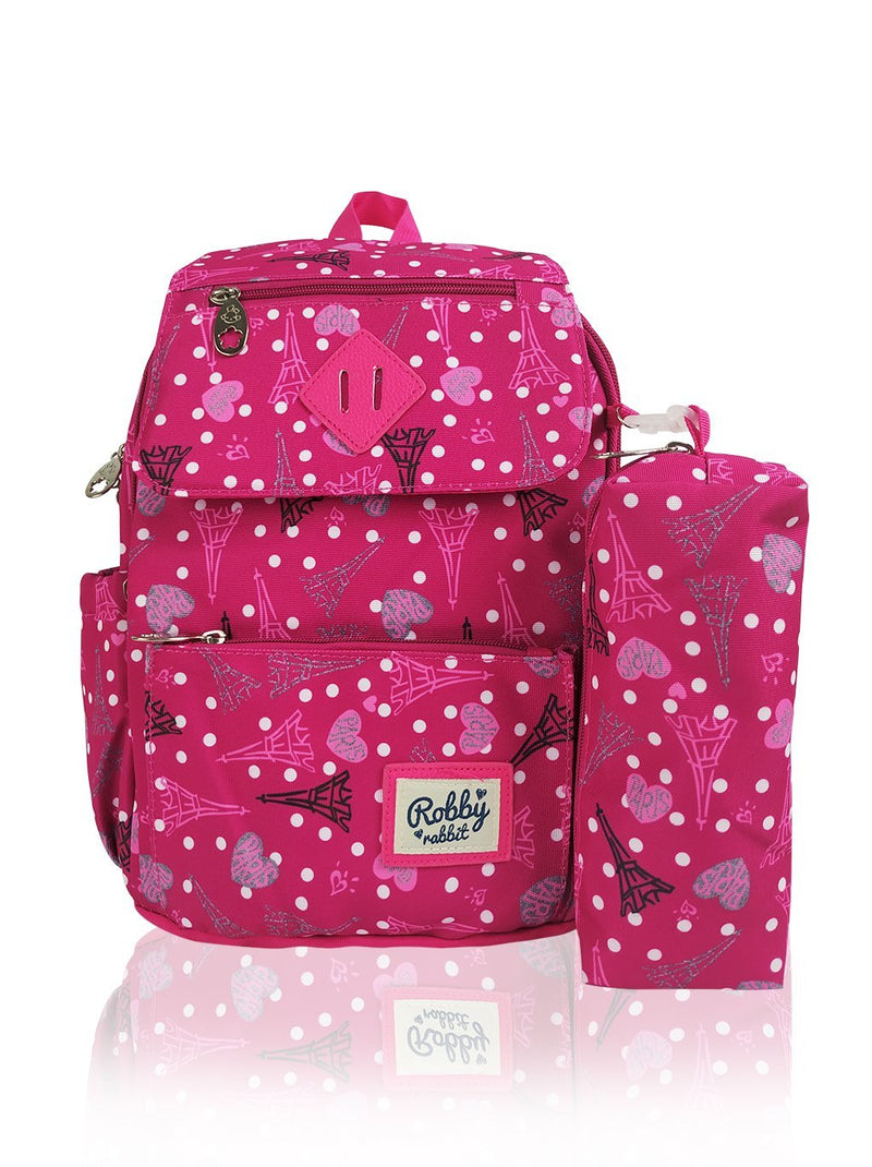 Paris Catwalk - 13in Backpack (Pink)  - Robby Rabbit Girls