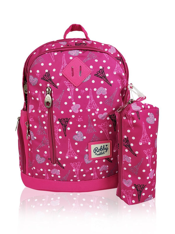 Paris Catwalk - 15in Backpack (Pink)  - Robby Rabbit Girls
