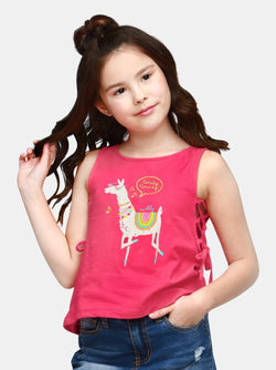 Playful Llama (Raspberry)  - Robby Rabbit Girls
