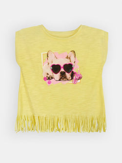 Fringed Frenchie (Yellow)  - Robby Rabbit Girls