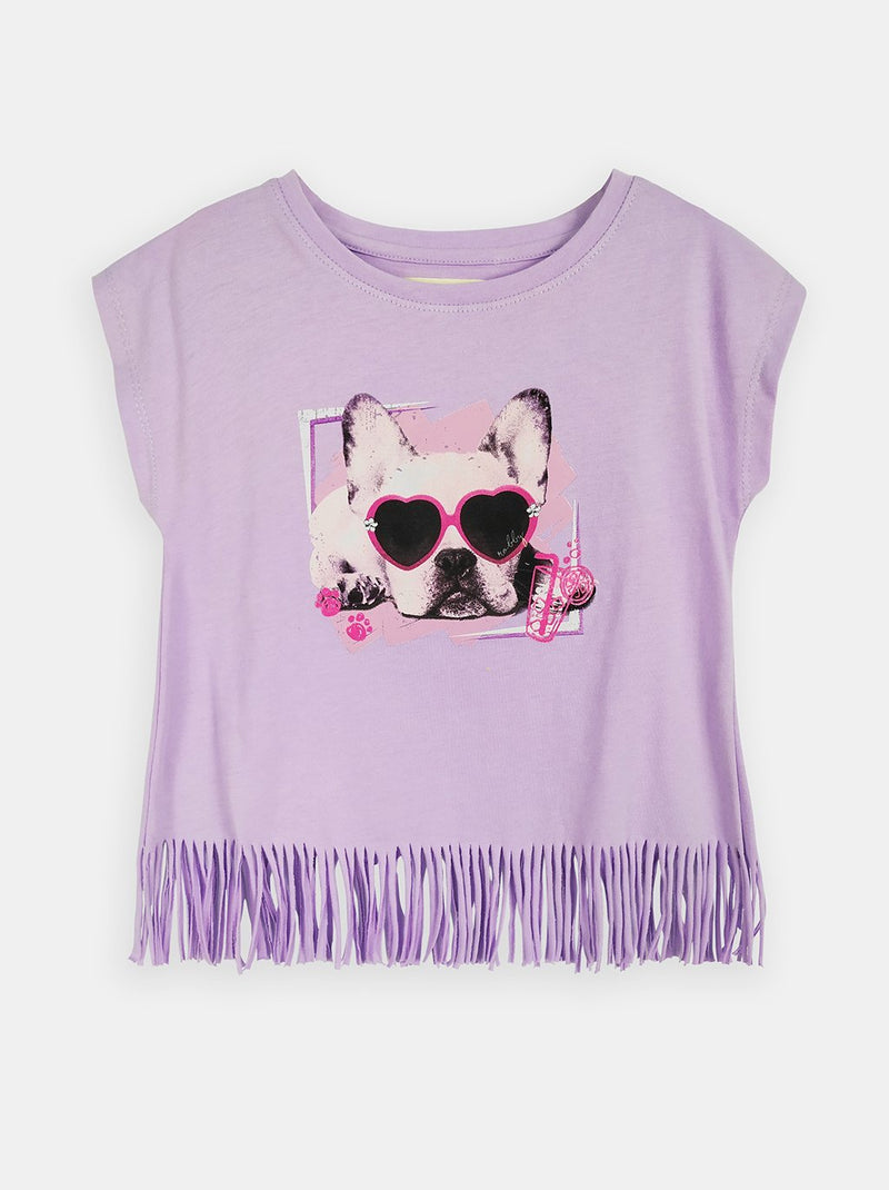 Fringed Frenchie (Lilac)  - Robby Rabbit Girls
