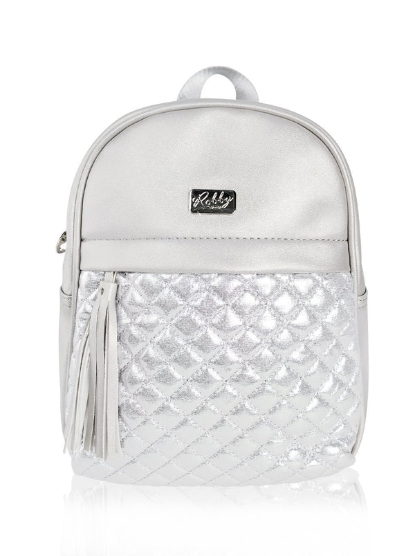 Dazzling Piece - 10in Backpack (Silver)  - Robby Rabbit Girls