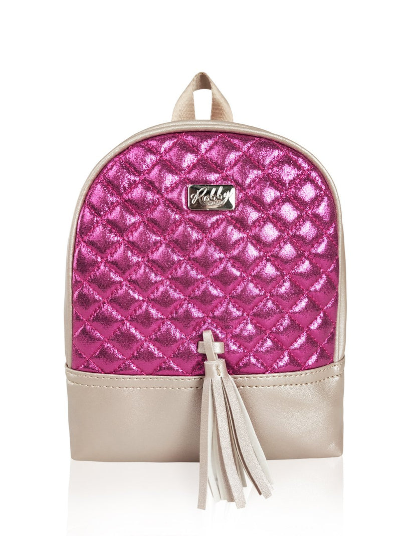 Dazzling Piece - 8.5in Backpack (Fuchsia)  - Robby Rabbit Girls