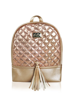 Dazzling Piece - 8.5in Backpack (Gold)  - Robby Rabbit Girls