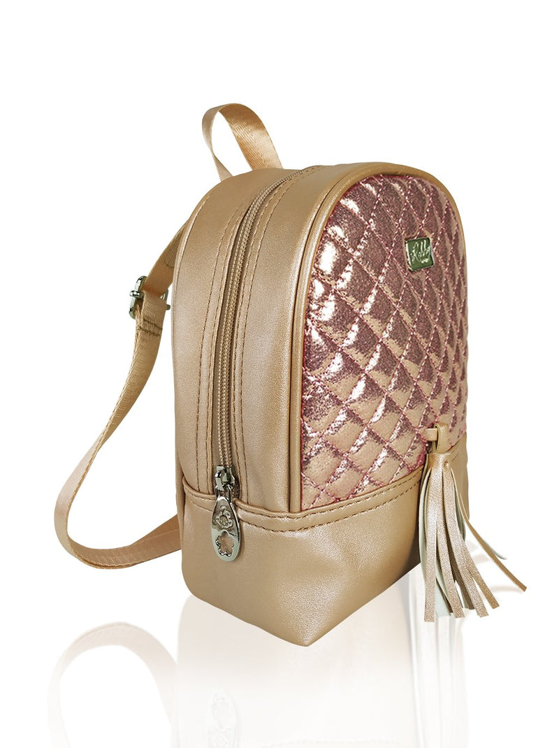 Dazzling Piece - 8.5in Backpack (Gold)