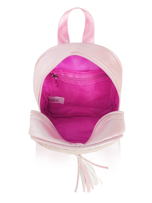 Dazzling Piece - 8.5in Backpack (Pink)