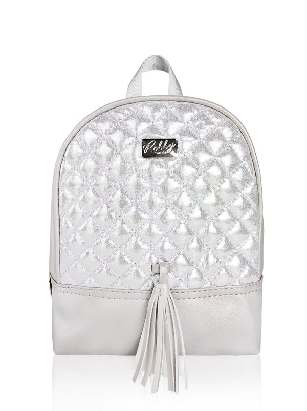 Dazzling Piece - 8.5in Backpack (Silver)  - Robby Rabbit Girls