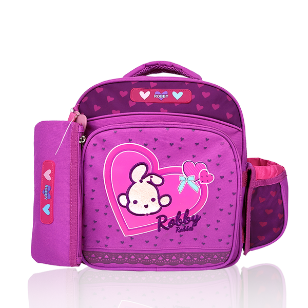 Full of Hearts - 12in Backpack (Pink)  - Robby Rabbit Girls
