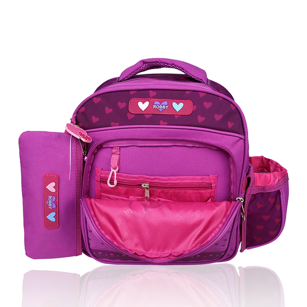 Full of Hearts - 12in Backpack (Pink)