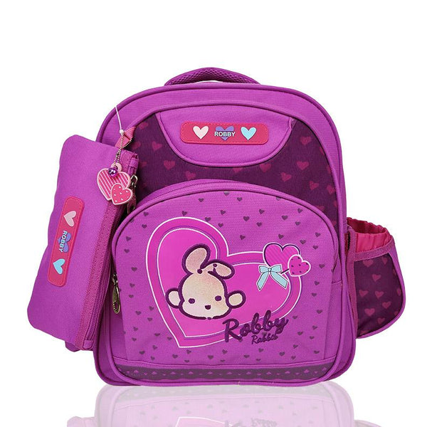 Full of Hearts - 14in Backpack (Pink)  - Robby Rabbit Girls