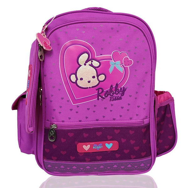 Full of Hearts - 16in Backpack (Pink)  - Robby Rabbit Girls