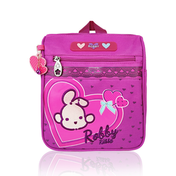 Full of Hearts - 9in Backpack (Pink)  - Robby Rabbit Girls