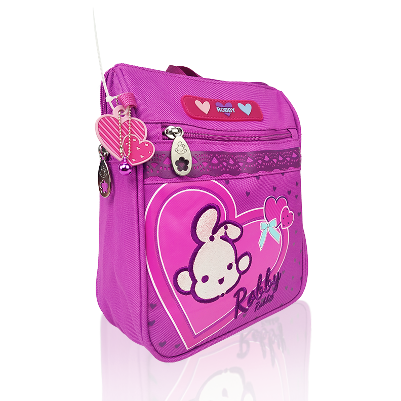 Full of Hearts - 9in Backpack (Pink)
