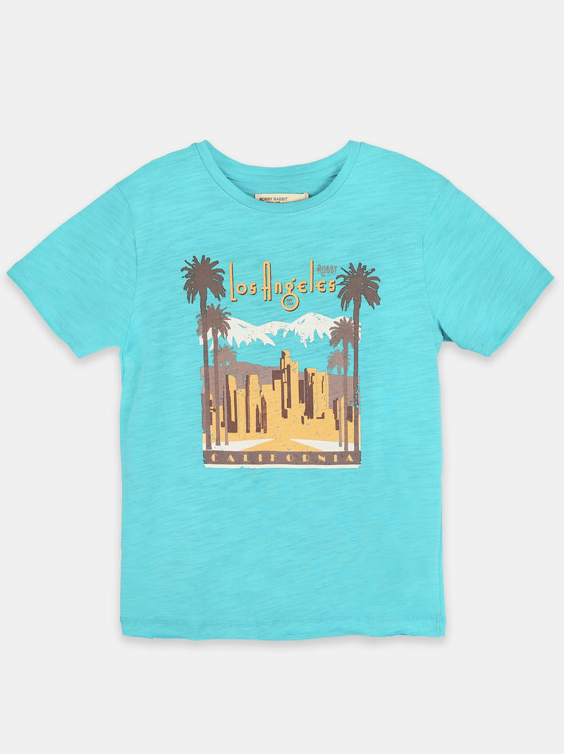 LA View (Teal)  - Robby Rabbit Boys