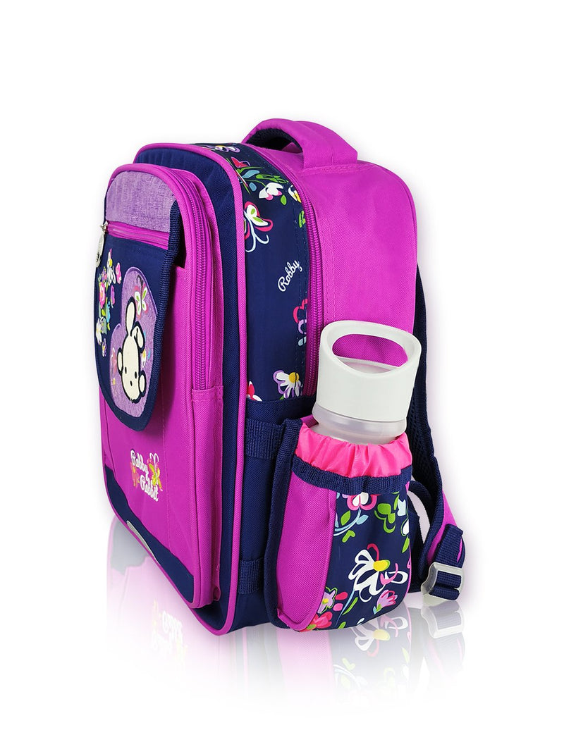 Blooms N Blued - 14in Backpack (Purple)