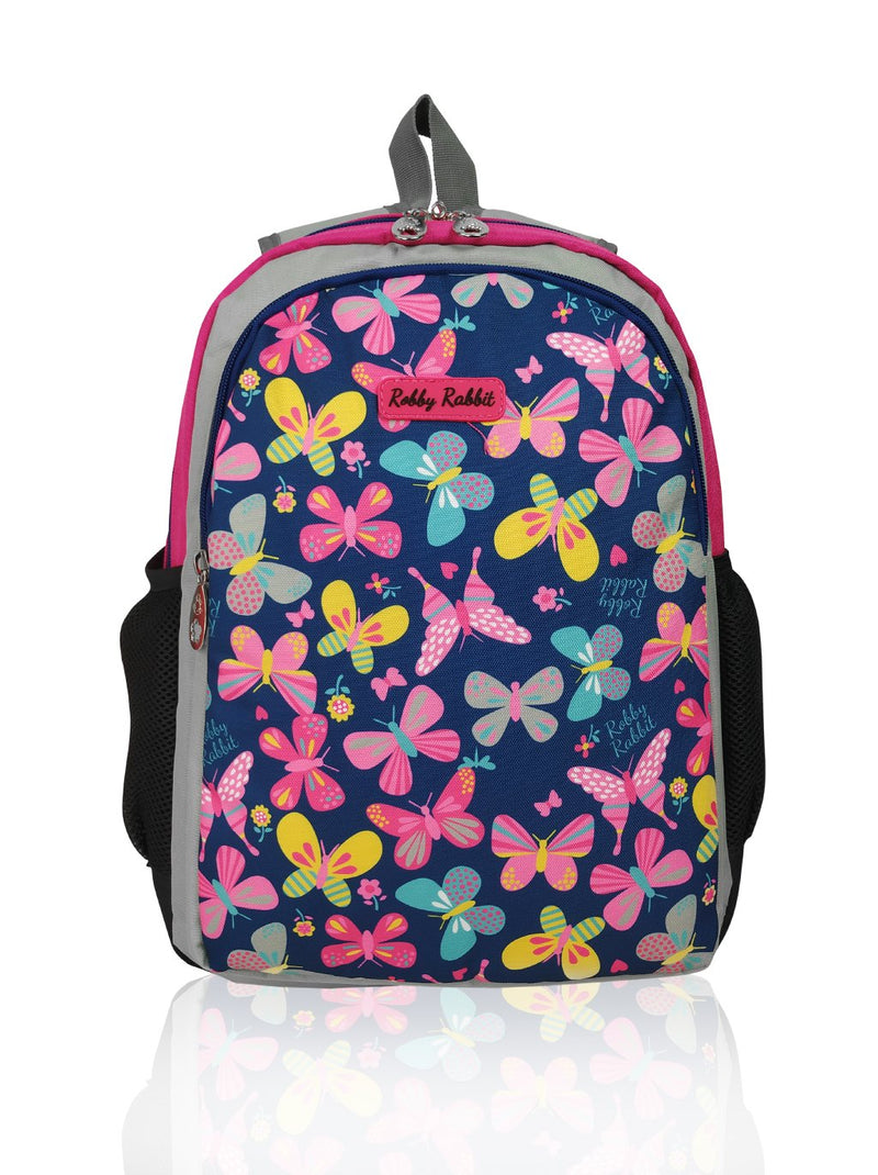 Flowers and Butterflies (Reversible) - 15in Backpack (Pink)