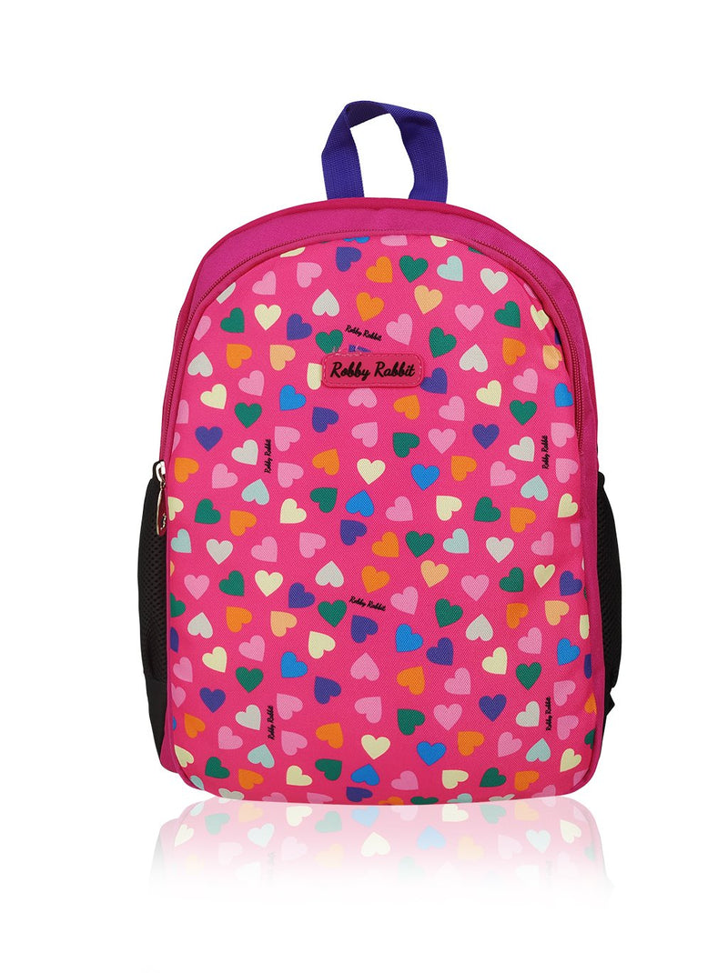 Hearts and Unicorns (Reversible) - 15in Backpack (Purple and Pink)