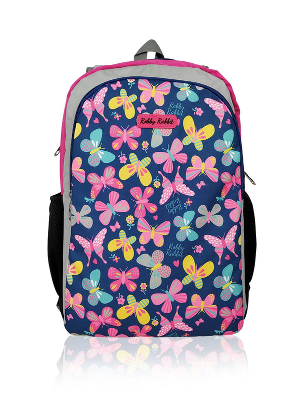 Flowers and Butterflies (Reversible) - 17in Backpack (Pink)