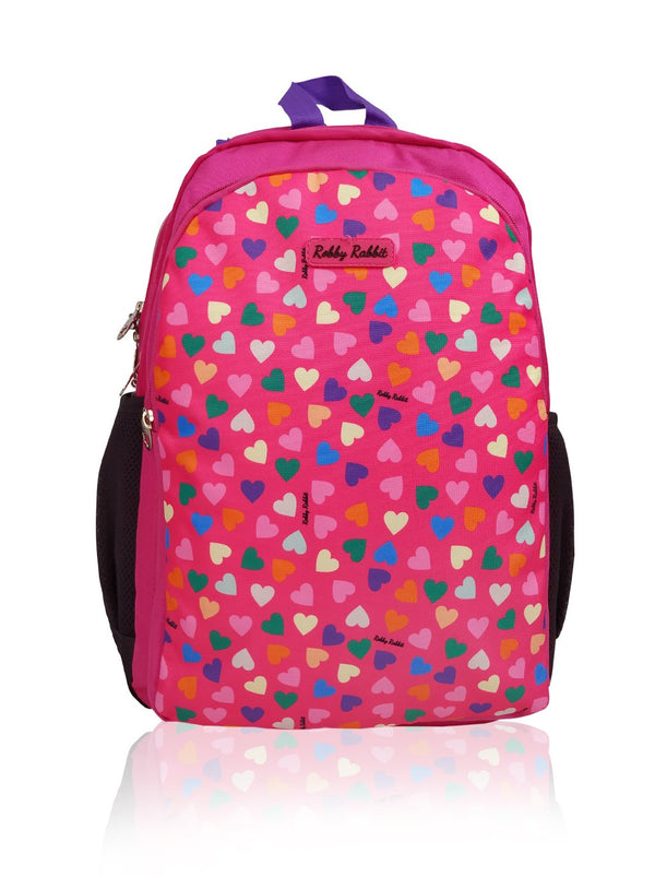 Hearts and Unicorns  (Reversible) - 17in Backpack (Purple and Pink)