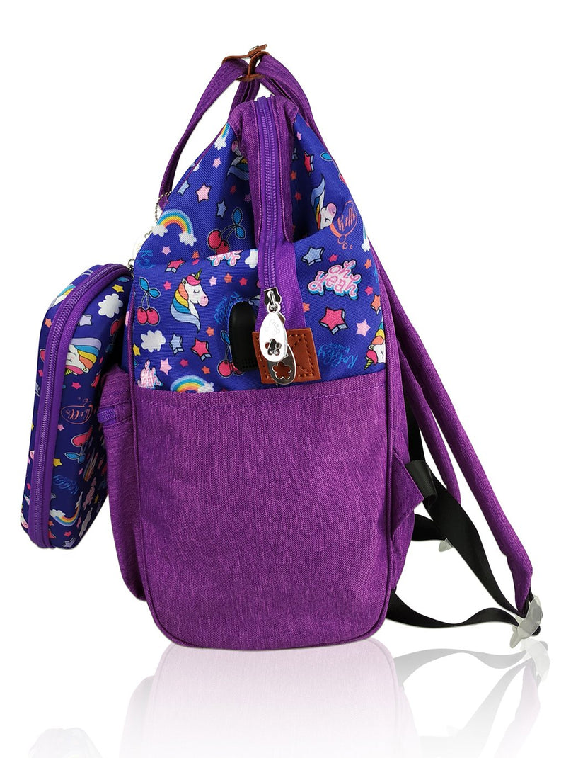 Love Magic Hinge Clasp - 16in Backpack (Purple)