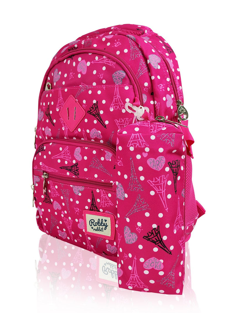 Paris Catwalk - 16.5in Backpack (Pink)