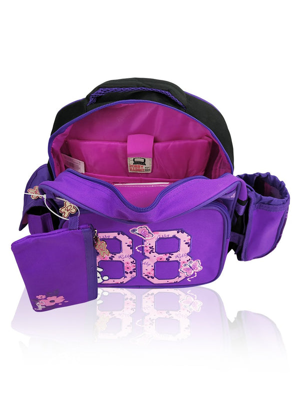 Flower Power - 12in Backpack (Purple)