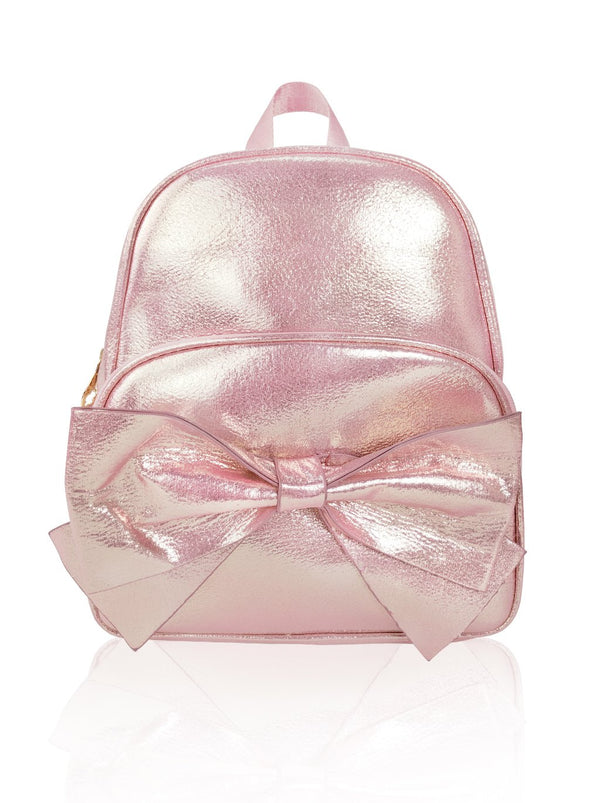 Sassy Bows - 10in Backpack (Peach)  - Robby Rabbit Girls