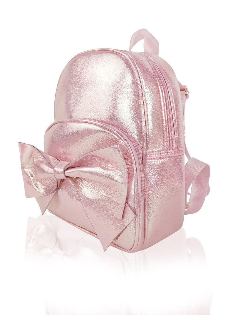 Sassy Bows - 10in Backpack (Peach)