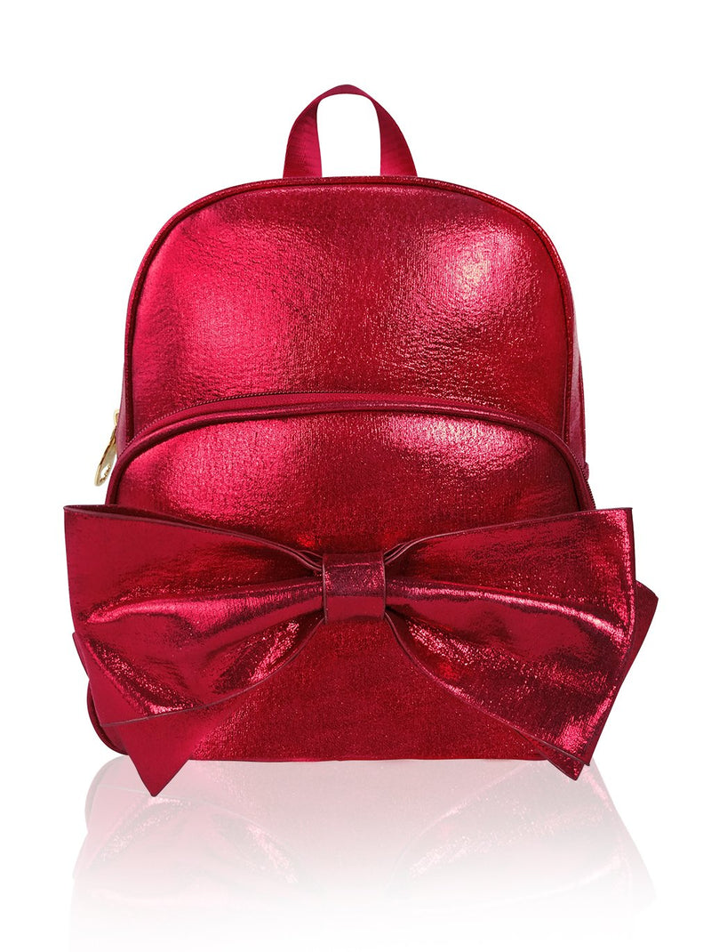 Sassy Bows - 10in Backpack (Red)  - Robby Rabbit Girls
