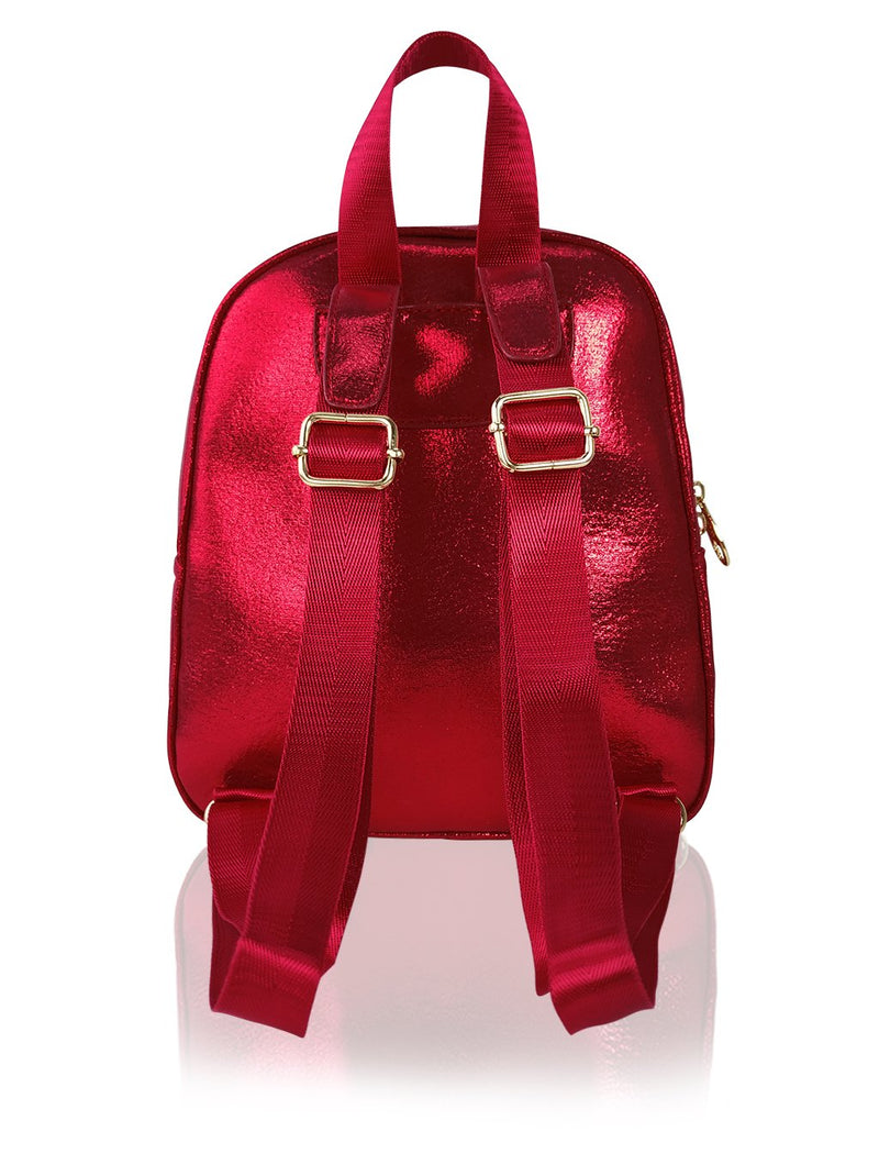 Sassy Bows - 10in Backpack (Red)
