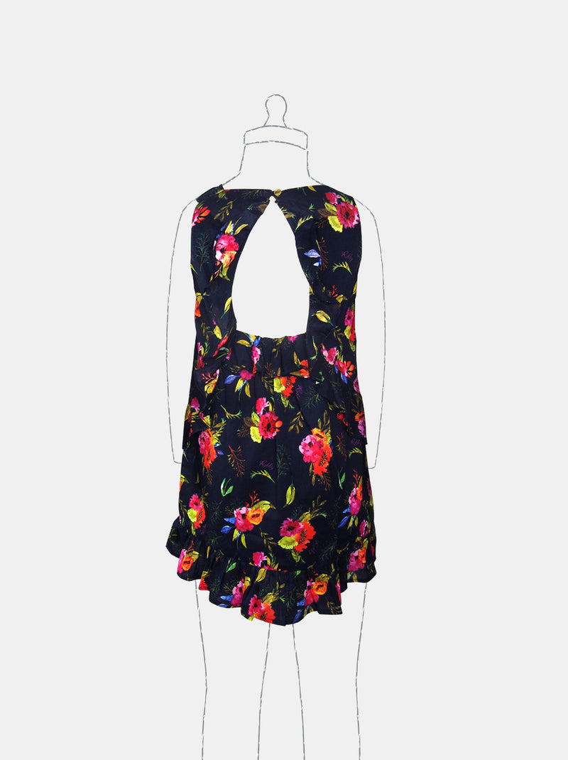 Lovely Blooms (Navy)