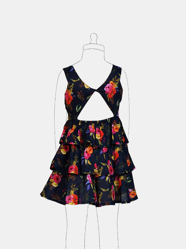 Pretty Blooms (Navy)