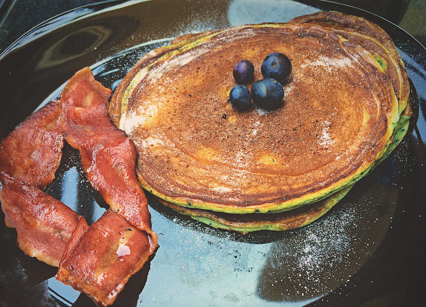Recipe Blueberry Protein Pancakes