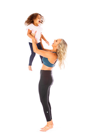 Laura Berens of Love and Fit Activewear with her daughter