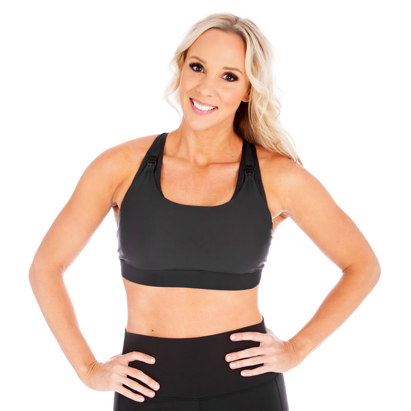 Athena 2.0 Nursing Sports Bra - Black