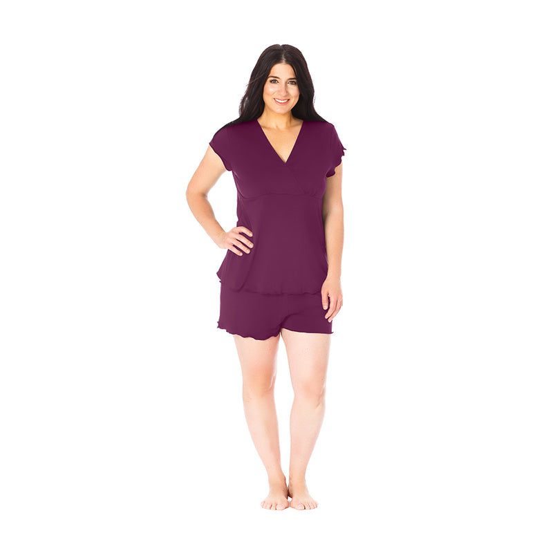 Cozy Up Nursing & Maternity Pajamas - Purple