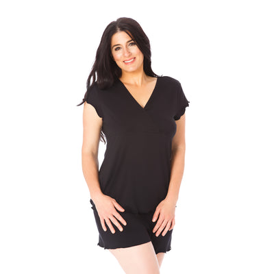 Cozy Up Nursing & Maternity Pajamas - Black