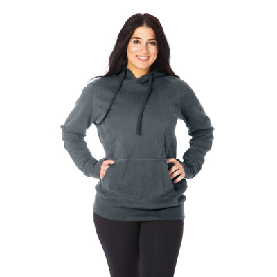Cozy Up Nursing Hoodie - Dark Heather Gray (Launching soon!)