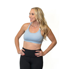 Strappy Back Nursing Sports Bra by LOVE AND FIT