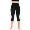 Mesh Out Capri Leggings - Black